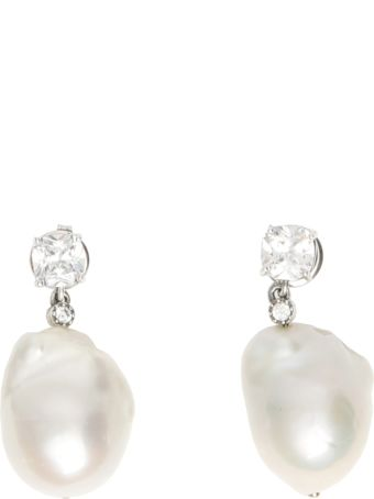 Bottega Veneta Zirconia And Pearl Earrings