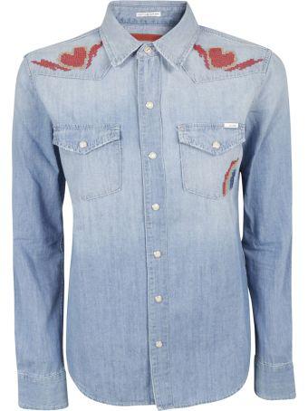 Mother Denim Heart Applique Shirt