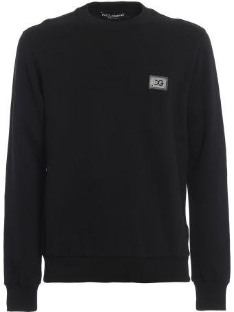 Dolce & Gabbana Logo Patched Sweatshirt