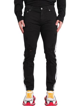 Dolce & Gabbana Skinny Jeans With Contrasting Sideband