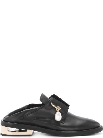Coliac Nathan Black Leather Jewel Loafer
