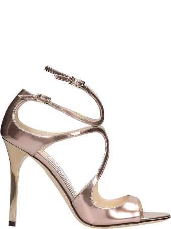 Jimmy Choo Pink Patent Leather Land Sandals