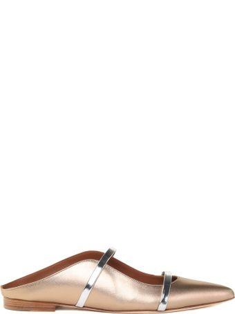 Malone Souliers Maureen Laminated-leather Flats
