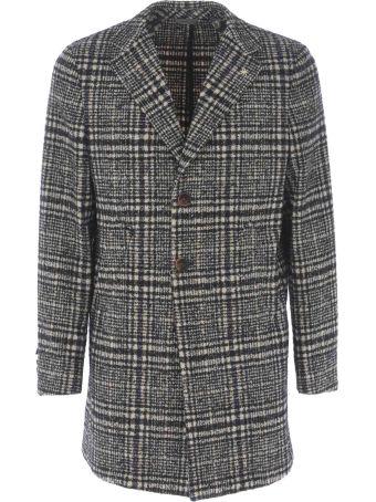 Manuel Ritz Checked Coat