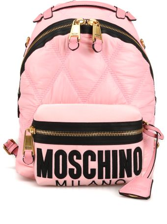 Moschino Pink Diamond Quilted Nylon Backpack 76058207b1223