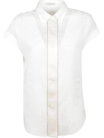 Brunello Cucinelli Capped Sleeve Shirt