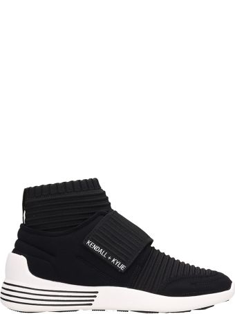 Kendall + Kylie Brax Black Fabric Sneakers