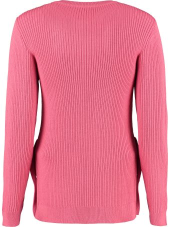 Boutique Moschino Ribbed Crew-neck Sweater
