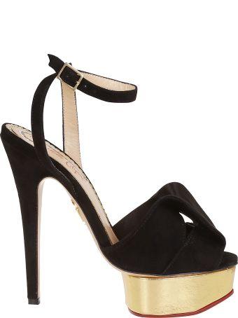 Charlotte Olympia Classic Velvet Sandals