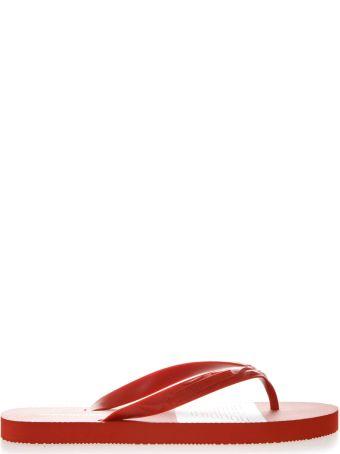 Emporio Armani Red Rubber Sandals