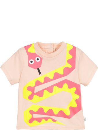 Stella McCartney Kids Peach Pink Newborn T-shirt
