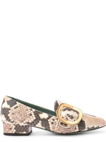 Paola D'Arcano Dixi Python Printed Leather Loafer