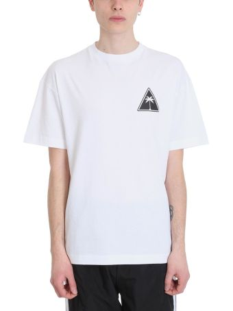 Palm Angels White Palm Icon Cotton T-shirt