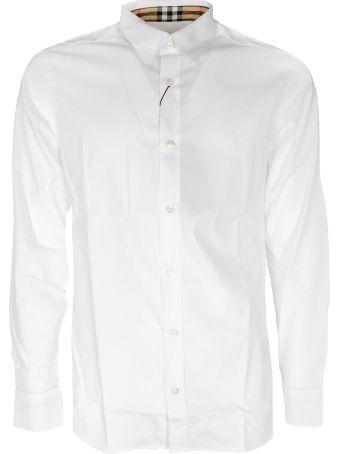 Burberry Checked Collar Detail Shirt