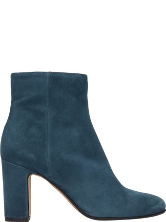 Julie Dee Petrolium Suede Leather Boots