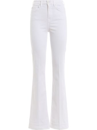 7 For All Mankind Mid Rise Flared Jeans