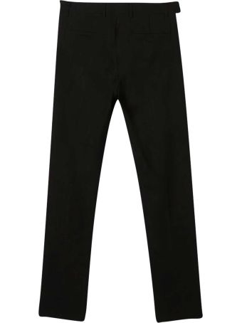 Balmain Black Teen Trousers With Side Bands