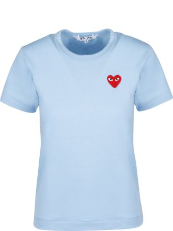 Comme des Garçons Play Red Heartlogo Patch T-shirt