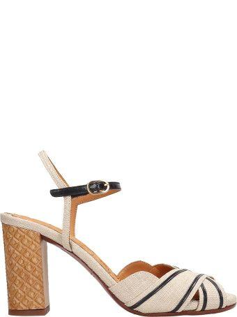 Chie Mihara Beige Canvas Batina Sandals