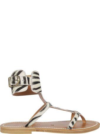K.Jacques K. Jacques Zebra Print Sandals