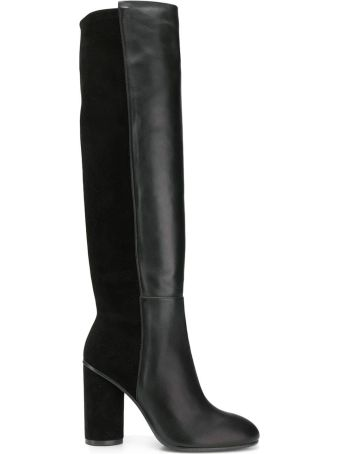 Stuart Weitzman Eloise 95 Suede And Leather Boots