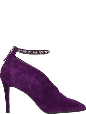 Lola Cruz Purple Suede Leather Pumps