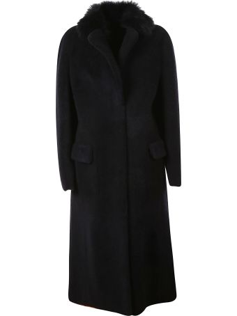 Blancha Fur Trimmed Long Coat