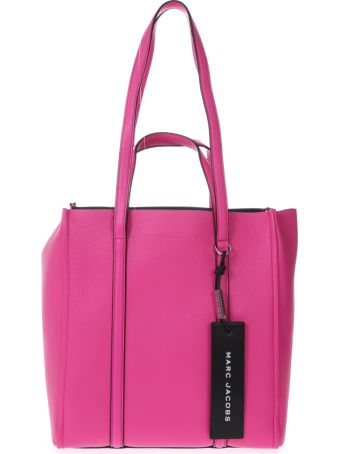 Marc Jacobs Pink Tote The Tag Bag In Leather