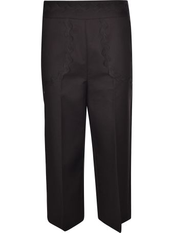 Valentino Scalloped Detail Trousers