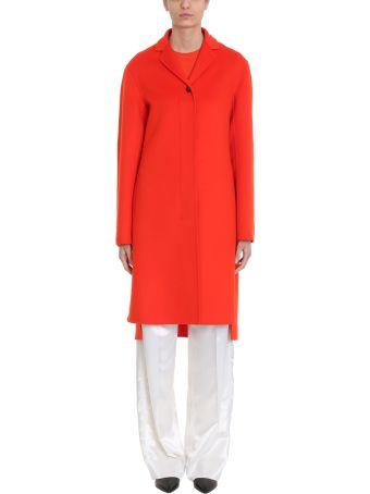 Jil Sander Guatemala Notch-lapel Red Cashmere Coat