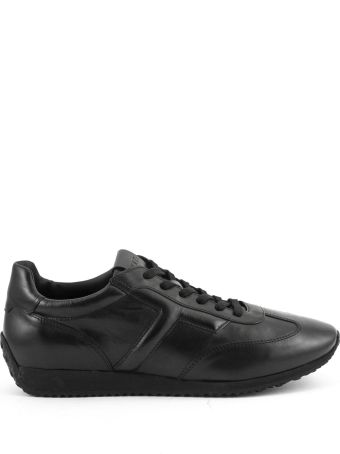 Tod's Sneakers In Black Smooth Leather
