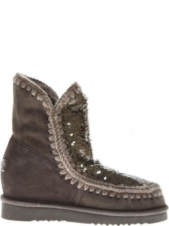 Mou Eskimo Mud Suede Sequins Boots
