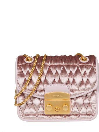 Furla Bag Metropolis Cometa In Velvet Color Pink