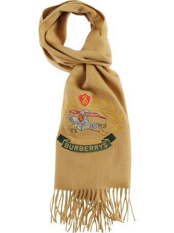 Burberry Embroidered Logo Scarf