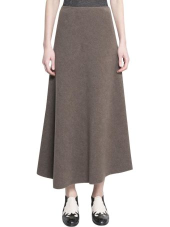 Dusan Wool And Viscose Skirt