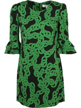 Diane Von Furstenberg Crawling Chain Shift Dress