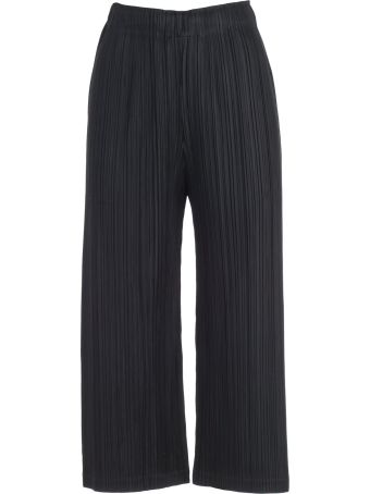Pleats Please Issey Miyake Pleats Please By Issey Miyake Cropped Pleated Trousers