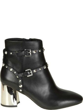 """Ash """"harlem Bis"""" Black Leather Ankle Boots"""