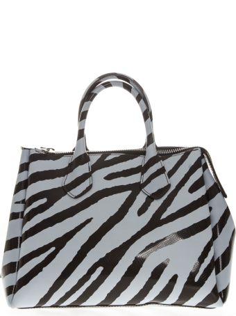 Gianni Chiarini Zebra Pvc Bag With Double Shoulder