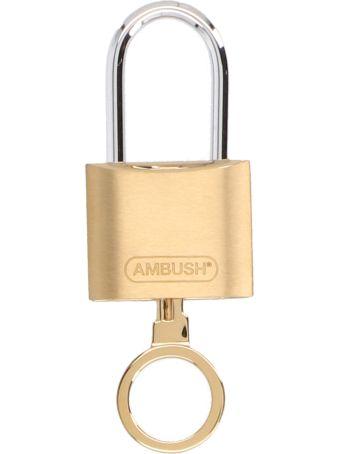 AMBUSH 'padlock' Keyring