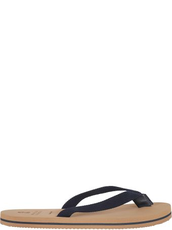 Brunello Cucinelli Striped Sole Flip Flops