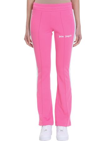 Palm Angels New Skinny Track Pink Polyester Pants