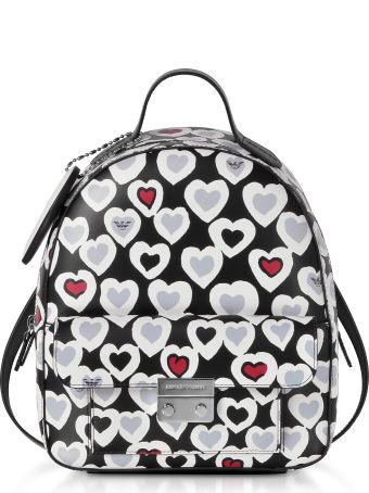 Emporio Armani Heart Print Medium Backpack