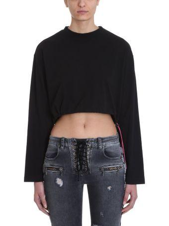 Ben Taverniti Unravel Project Black Cropped T-shirt