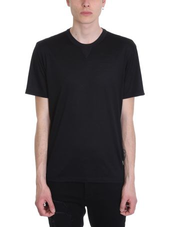 Ermenegildo Zegna Black Cotton T-shirt