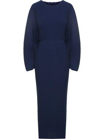 Solace London Mirabelle Pleated-chiffon Dress