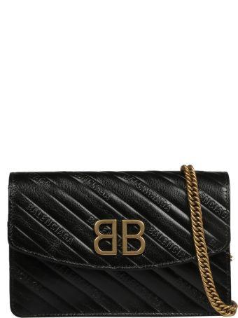 Balenciaga Embossed Quilted Shoulder Bag