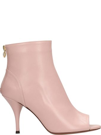 L'Autre Chose Pink Leather Ankle Boots
