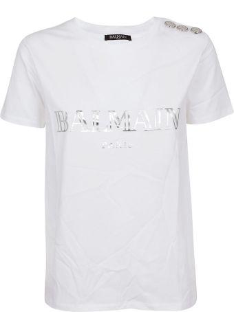 Balmain Ss 3 Button Logo T-shirt
