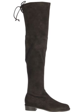 Stuart Weitzman Hi Boots With Lace On The Top/stivale Alto